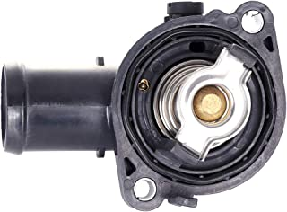 ECCPP 5184570AH 5184570AJ Engine Coolant Thermostat and Housing Assembly Radiator CoolantThermostat Housing Equipment fit for 2011-2016 Chrysler Town Country 2011-2014 Dodge Avenger