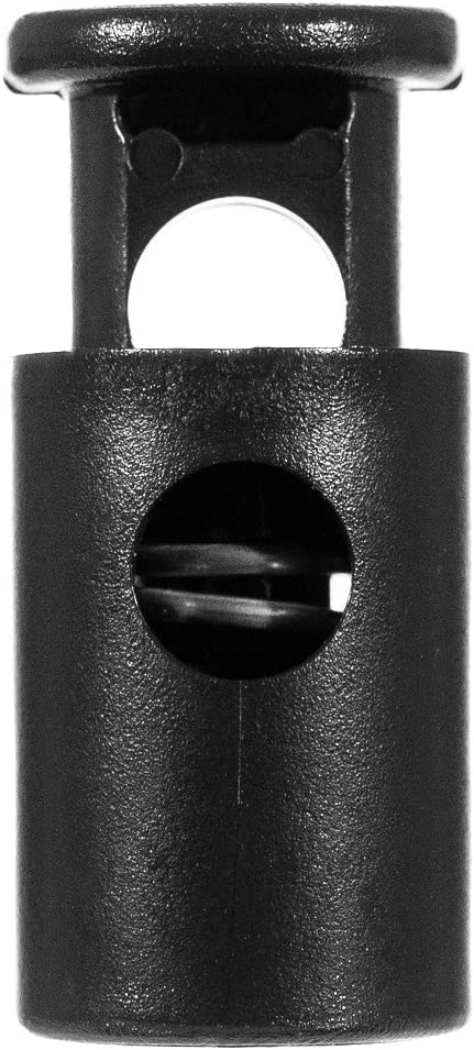 Coyote Brown, 5 Pack Craft County Plastic 1//4 Inch Spring-Loaded Ellipse Cord Lock Toggle Stoppers