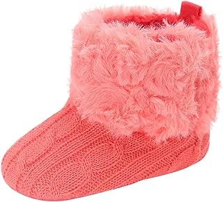 Baby Premium Soft Sole Anti-Slip Warm Winter Infant Prewalker Toddler Button Snow Boots