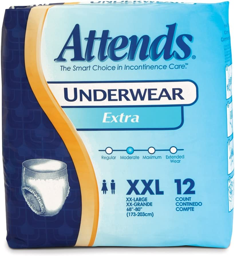 Attends Incontinence Care Underwear for XXL Special price a limited time Adults Houston Mall Extra 12 C