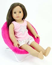 Sophia's 18 Inch Doll Furniture, Hot Pink Fuzzy Papasan Chair Perfect for Your 18 Inch American Girl Doll Clothes & More! Doll Hot Pink Papasan Chair