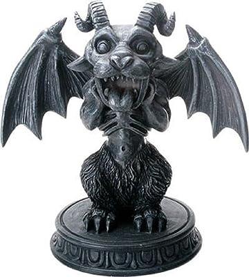 YTC Summit International Screaming Gargoyle on Pedestal Figurine Horned Winged Demon Gothic Decoration