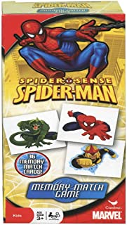 Marvel Spiderman Memory Match Game 36 Picture Cards Memorizing Superhero Character Photos Pairing Images Contest Indoor Outdoor Activity - Board Game Party Favor for Kids Age 3+