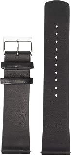 skagen black leather watch band