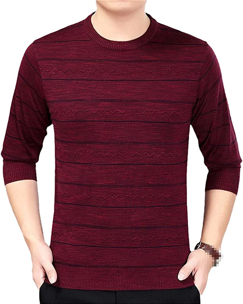 KGFDB Cotton Thin Men's Pullover Sweaters Casual Crocheted Striped Knitted Sweater Men Masculino Jersey Clothes