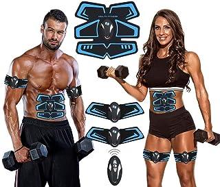 AILIDA Electroestimulador Muscular Abdominales, para Abdomen/Cintura/Pierna/Brazo, USB Recargable EMS Estimulador Muscular Abdominales