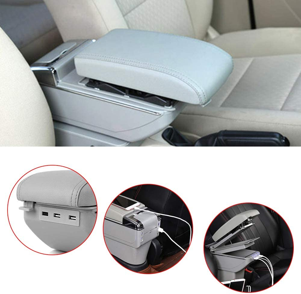 Cobear for Skoda Rapid 2013-2018 Animer and price revision Armrest In Car Box Save money Double-Space