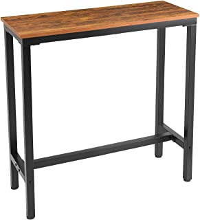"""Mr IRONSTONE 39.4"""" Bar Table Vintage Pub Dining Height Table Bistro Table (Indoor USE ONLY)"""