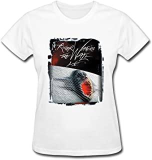 Jasmincc Women's Roger Waters The Wall Live Tour Poster Tshirts White XX-Large