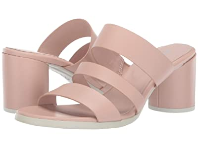 ECCO Shape 65 Block Sandal (Rose Dust Calf Leather) High Heels