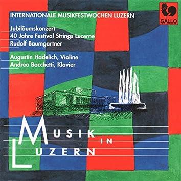 Vivaldi: Concerto RV 581 - Bach: Grand Overture, Op. 18, No. 1, W. C26 - Mozart: Piano Concerto, No. 12, K. 414 - Stravinsky: 3 Pieces for String Quartet