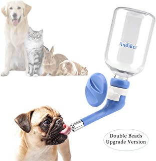 Andiker No-Drip Dog Water Dispenser Bottle-Dog Kennel Cage Water Dispenser Water Drinker Kettle for Pets can be Raised and Lowered Drinking Water Feeding Cage Water Bottle for Dogs