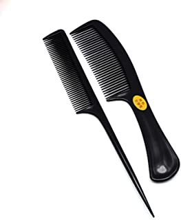 OZYSZSSZBESANSZ 2 Pcs Hair Combs Anti-static Carbon Hair Combs High Quality Pro Hair Styling Tools Hairdressing Hair Care ...