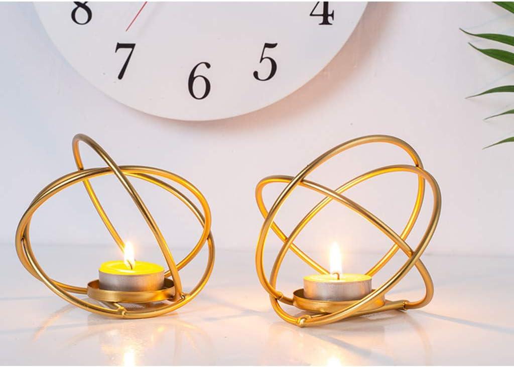 LINNSZ Modern Wrought Iron Bombing new work Geometric Holder shipfree Candle Gold Candlest