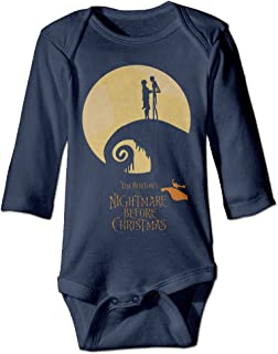 NewBorn The Nightmare Before Christmas Long Sleeve Romper Bodysuit Outfits Navy