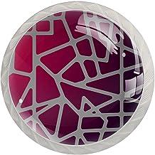 AITAI Moderne Abstracte Ronde Kabinet Knop 4 Pack Trekt Handvatten