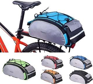 Twins LLC - Bicycle 13L Carrier Bag Bike Rack Pannier Trunk Basket Back Seat Shelf Pouch Cycling Luggage Shoulder Handbag 14541