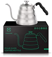 Magicafé Pour Over Coffee Kettle - Stainless Steel Gooseneck with Built in Thermometer for Exact Temperature - 40OZ