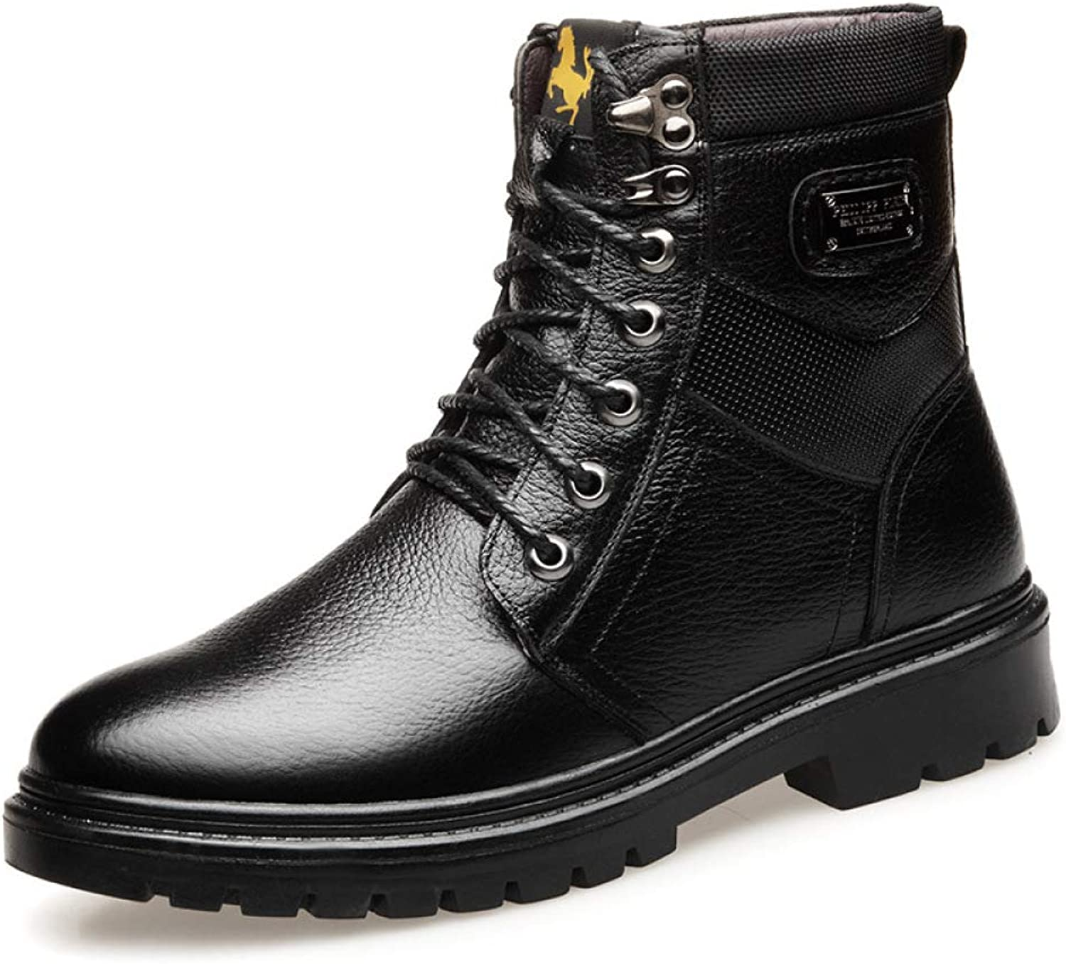 Winter Warm High-top Belt Martin Boots Men's England New Leather Casual shoes Boots