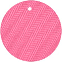 Yardwe Silicone Trivets Mat Multi-purpose Pot Holders Heat Resistant Non-slip Hot Pads Oven Pads (Rosy)
