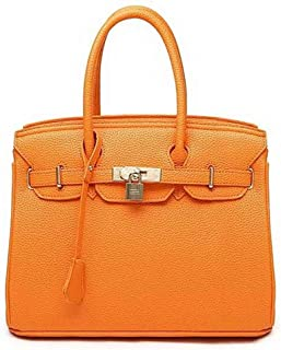 Shoulder Bag Women's Pu Fashion Casual Crossbody Bags Shoulder Bags Handbag Clutch (Color : Orange)