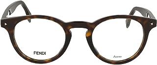 FENDI - FF 0219 086 47 Gafas de sol, Marrón (Dark Havana), Hombre