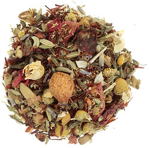 AURESA Ayurveda Tee Bio Kleine Auszeit | Kräutertee mit Rooibos, Kamille, Melisse und Fenchel | Aromatisch leckerer Tee für jede Tageszeit