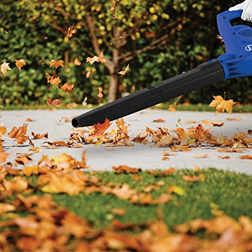 Sun Joe SBJ597E-SJB 6-Amp 155 MPH Electric Leaf Blower, Blue