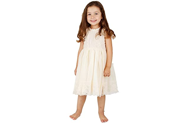 Bow Dream Ivory Off White Lace Vintage Flower Girl s Dress dce2f2a39