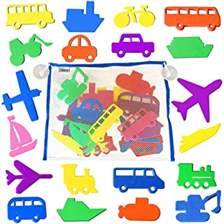 TOYANDONA 1 Set Foam Bath Toy Foam Floating Transportation Sticker Educational Swimming Pool Toys with Bag for Preschool E...