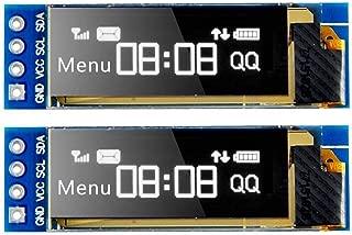MakerFocus 2pcs I2C OLED Display Module 0.91 Inch I2C SSD1306 OLED Display Module White..