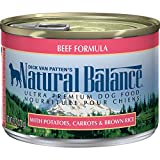 Natural Balance Ultra Premium Wet Dog Food, Beef Formula with Potatoes, Carrots & Brown Rice, 6 Ounce Can (Pack of 12)