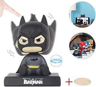 Coolgu Superhero Marvel-Hero Cartoon Cute Model Collectible Toy, Car Decoration Mobile Phone Holder Dashboard/ Office Home Accessories /Holiday Decoration/ Bobblehead Doll Kid's Gift (Batman)