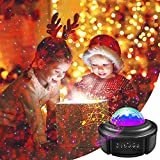 Star Projector Night Light with Bluetooth Speaker, Galaxy Projector Sky Ocean Wave Starry Projection, Remote Rotating LED Nebula Cloud Light for Christmas Gifts Baby Kids Bedroom Ambiance