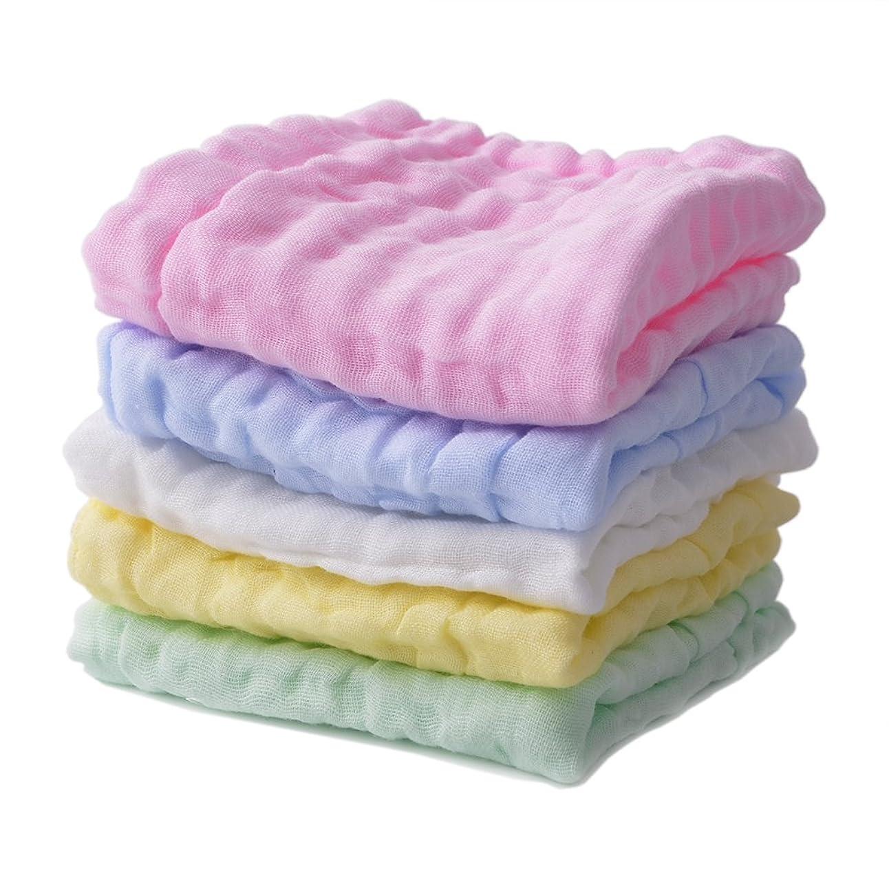 投資する戸棚山積みのBamsod 5パックの赤ちゃんの洗顔タオル新生児再使用可能なワイプ温かいベビーバスタオルシャワーギフト