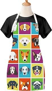Sevenstars Dog Apron Cooking Apron Waterproof Adjustable Kitchen Apron Cartoon Dog Baking Apron for Women Men