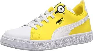 PUMA Unisex-Child Boys 36656201 Minions Basket Bs Slip-on White Size: