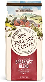 New England Coffee New England Breakfast Blend, Medium Roast Ground Coffee, 12 Ounce (1 Count) Bag