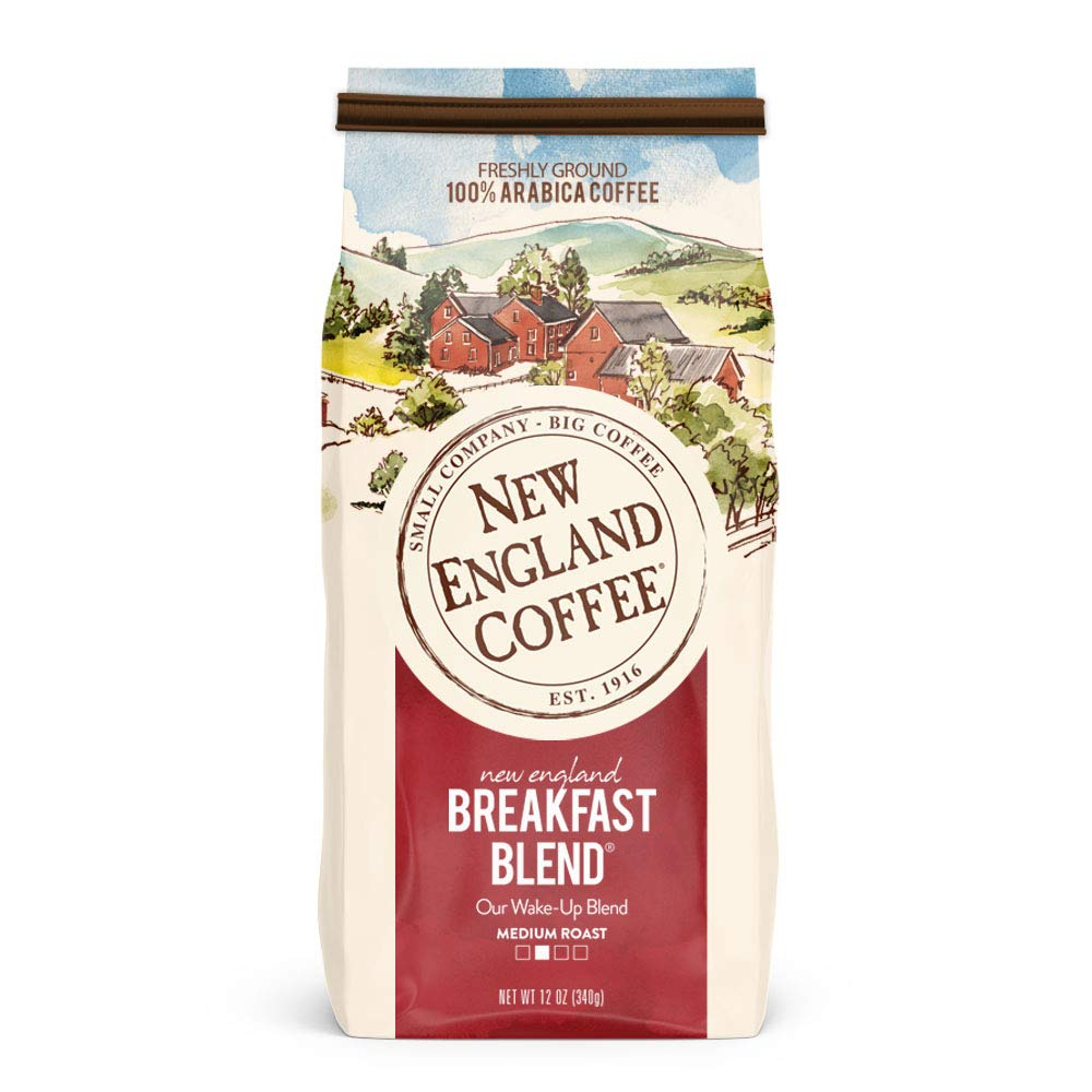 Amazon Com New England Coffee New England Breakfast Blend Medium Roast Ground Coffee 12 Ounce 1 Count Bag Prime Pantry