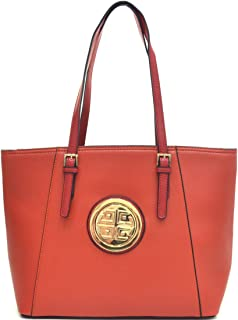 Dasein Women's Large Zip Top Multifunction Buckle Tote Bag Shoulder Purse Handbag