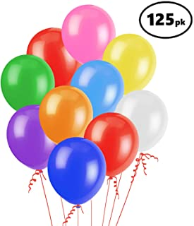 125-Pack Assorted Color Party Balloons (12-inch) – Perfect for Kids Birthday Parties, Events, or Activities – Made of Strong Latex - Easy to Inflate – Fill with Air, Helium or Water