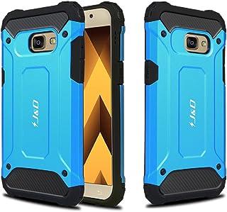 J&D Compatible para Galaxy A3 2017 Funda, [Armadura Delgada] [Doble Capa] [Protección Pesada] Híbrida Resistente Funda Protectora y Robusta para Samsung Galaxy A3 (Release in 2017) - Azul