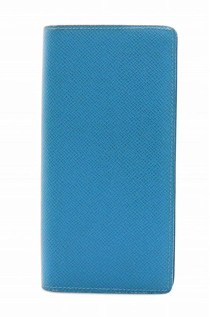 マーガレットミッチェルプラグ後継[ルイ ヴィトン] LOUIS VUITTON タイガ ポルトフォイユ ブラザ 2つ折長財布 カーフ レザー アイスバーグ ブルー 青 メンズ 新型 M32815 [中古]