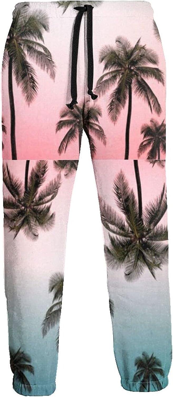 Men's Women's Sweatpants Coconut Tree Pink Blue Athletic Running Pants Workout Jogger Sports Pant