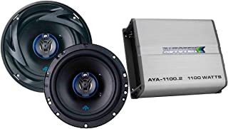 $79 » Autotek 2 Channel Amp & 3 Way Speaker (1 Pair) Bundle - AYA-1100.2 Alloy Series Two Channel Car Audio Amplifier (1100-Watt...