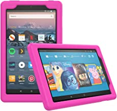 MoKo Case for All-New Amazon Fire HD 8 Tablet (7th/8th Generation, 2017/2018 Release) - [Honey Comb Series] Light Weight Shock Proof Soft Silicone Back Cover [Kids Friendly] for Fire HD 8, Magenta
