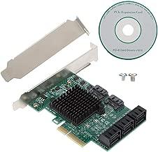 ASHATA Expansion Adapter Card,PCI-E to SATA3.0 8-Port Expansion Card Adapter Card,SA3008 Desktop PCI-E Adapter,6Gbps SATA3.0 Expansion Card