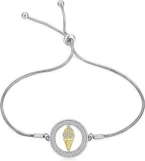 925 Sterling Silver Disc Adjustable Bracelets for Women