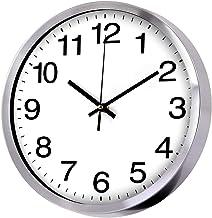 Wall Clock Metal Frame Glass Cover Non-Ticking Number Quartz Wall Clock 12inch Modern Quartz Design Decorative Indoor/Kitc...