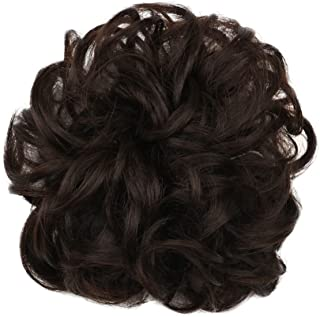 Karlery Short Curly Different Colors Bud Ball Wig Updo Chignon Bun Extensions Scrunchy Messy Hair Scrunchies Hair Pieces for Women (6#)